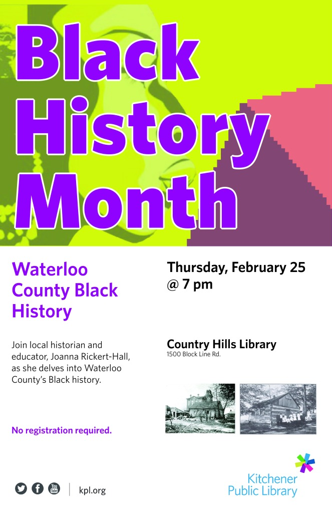 Waterloo County Black History Talk